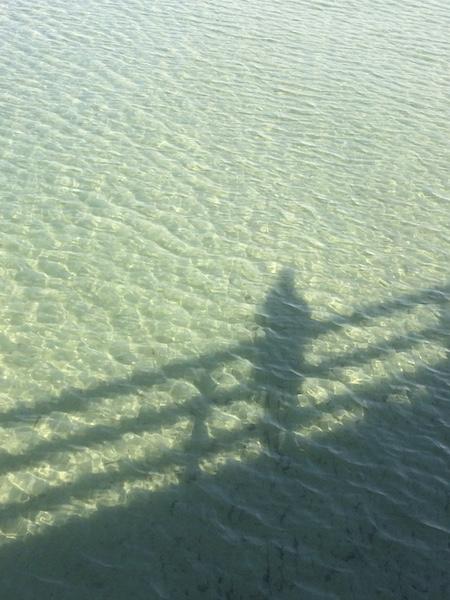 Meerwasser mit Schatten