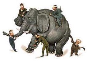 Elefant und fünf Blinde_verschiedene Perspektiven