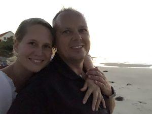 Kathrin und Tom abends am Strand von Varadero