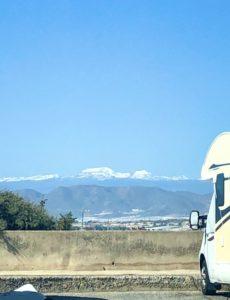 Die schneebedeckte Sierra Nevada