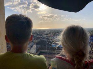 Aussicht vom höchsten Punkt der Kirche