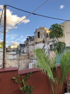 Unser Ausblick von der Dachterrasse: Alte Hausfassaden