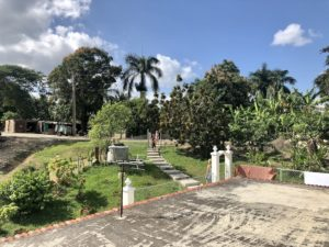 Der Hof, auf dem unser Casa Particulares in Las Terazzas war