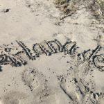 www.kirlana.de in den Sand von Playa Larga geschrieben