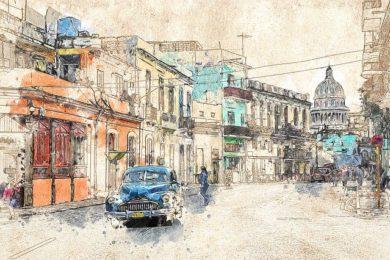 Künstlerbild Havanna, Kuba