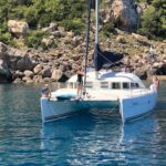 Anchoring in a bay